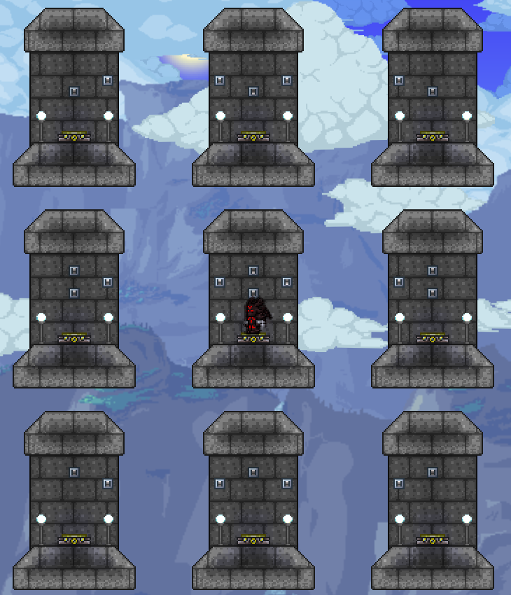 how to set up teleporters in terraria without trader
