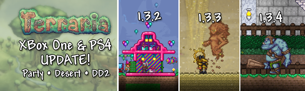 Terraria 1 3 4 For Xbox One And Playstation 4 Available Now News Terraria