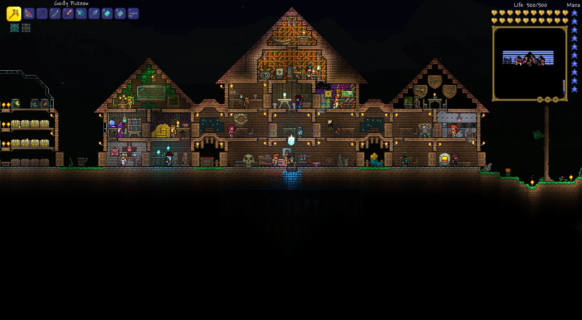 What does your house look like terraria community forums for Terraria house designs