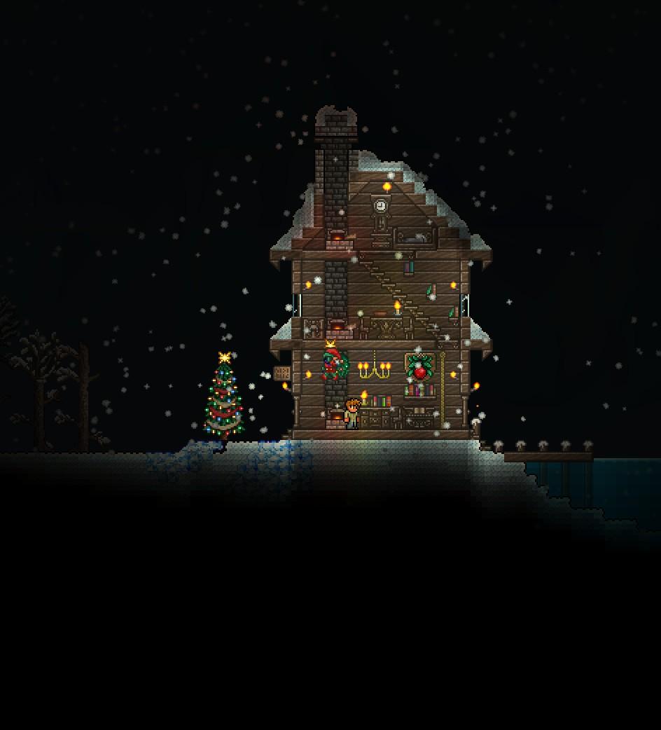 Terraria Christmas House.Merry Christmas Christmas Style House Terraria Community
