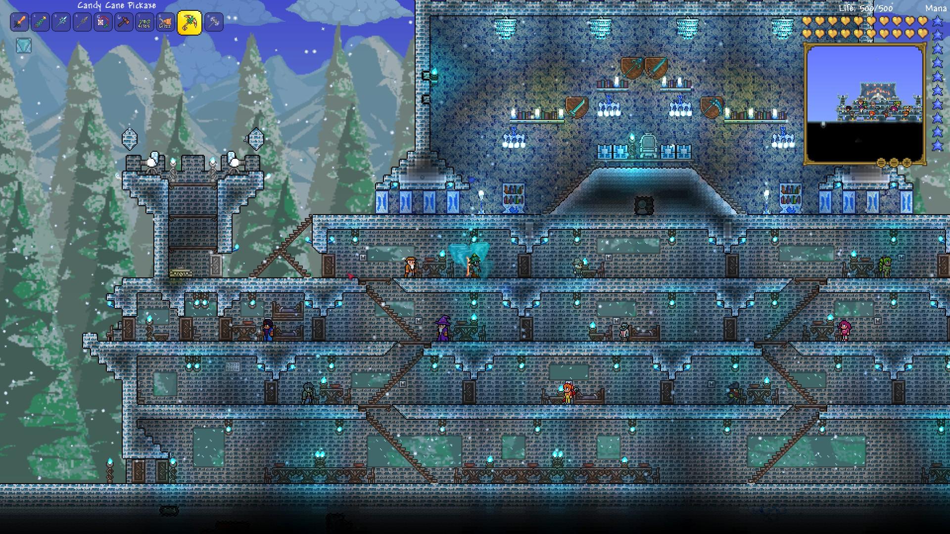 Pc Ice Castle Build Terraria Community Forums