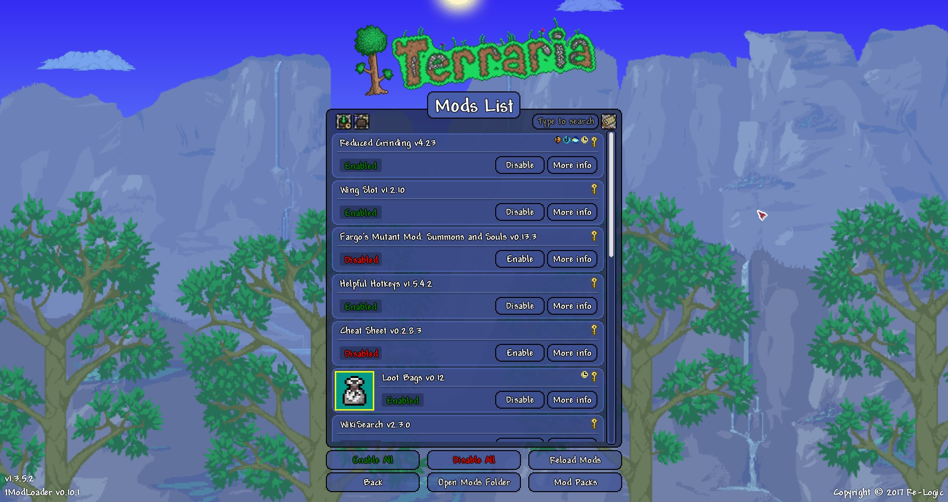 Modded Terraria Portion of World Disappeared | Terraria Community Forums