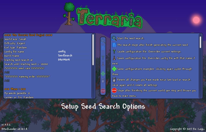 tModLoader - [Tool] The Terraria Seed Project | Terraria