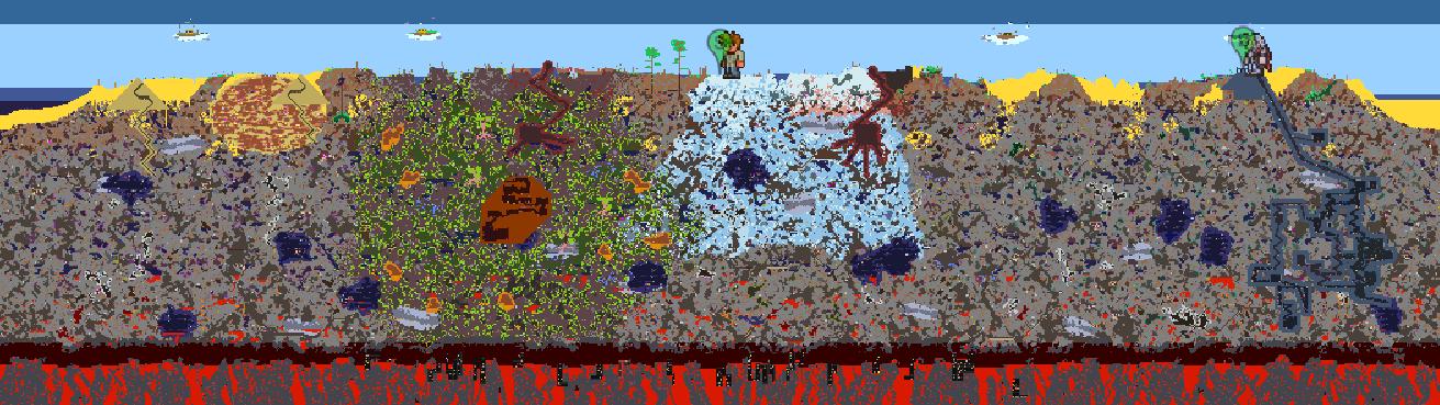 Terraria World Map  Arcania World Map, The Sims 4 World Map