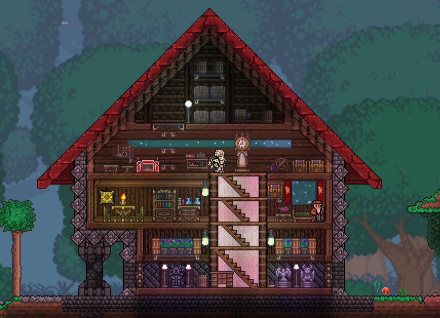 Pc ballin 39 houses by eiv terraria community forums for Home design reddit