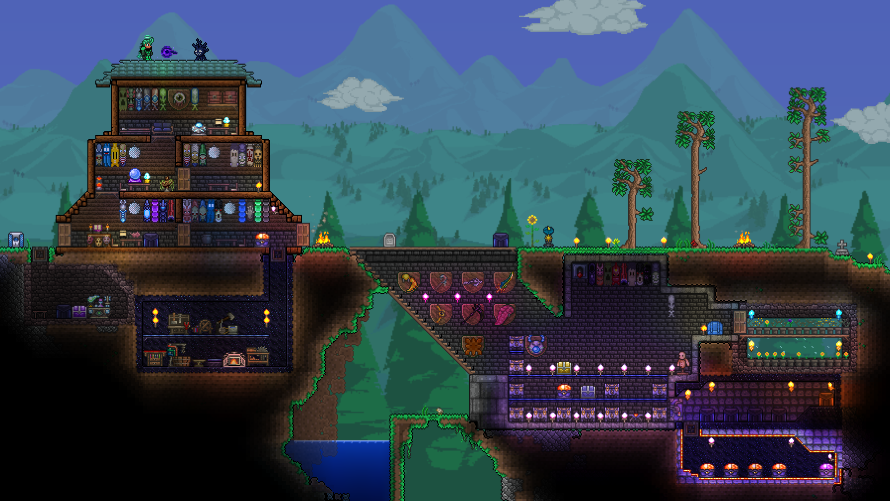 Pc Post Your 1 3 Base Here Terraria Community Forums