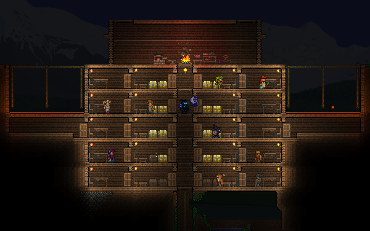 Efficient defensible housing base terraria community forums for Building a defensible home