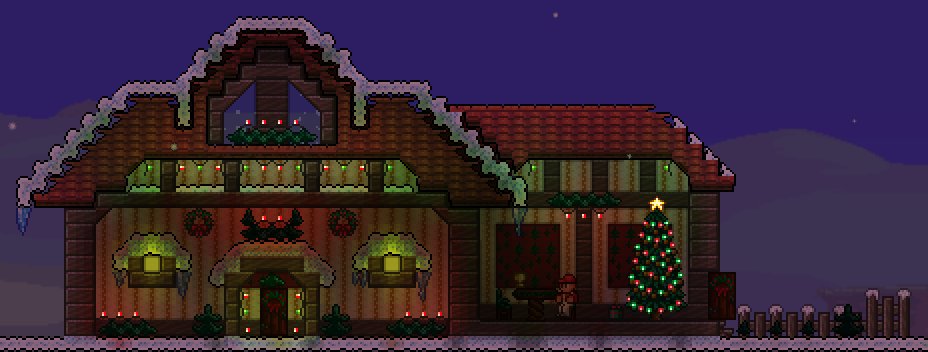 Terraria Christmas House.Building A Large Theme Biome Castle Page 2 Terraria