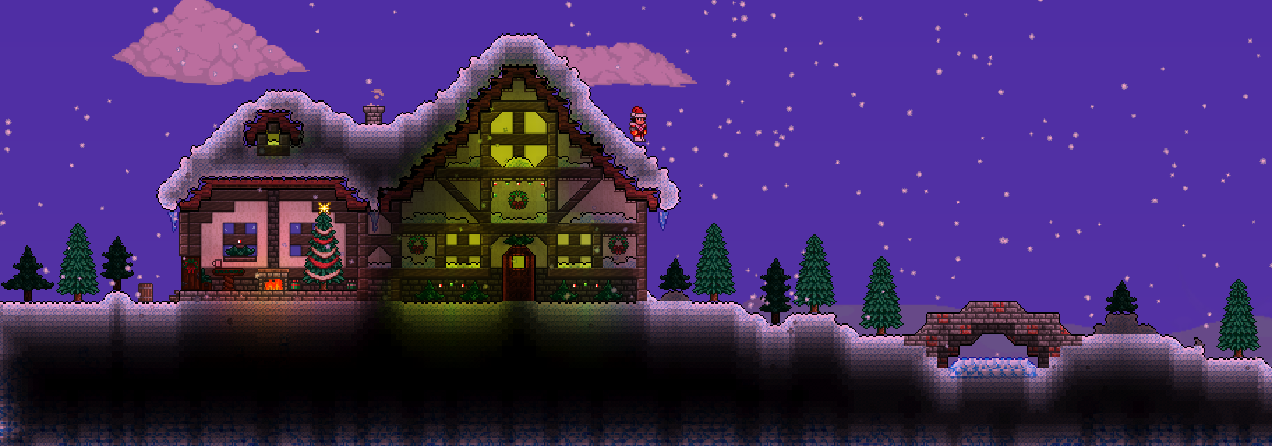 Terraria Christmas.Johnny S Belated Christmas World Terraria Community Forums