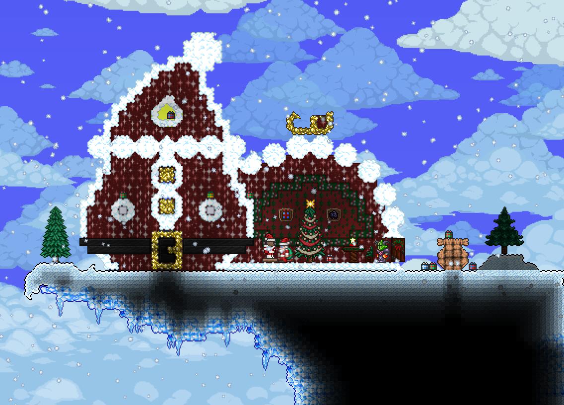 Terraria Christmas House.Johnny S Belated Christmas World Terraria Community Forums