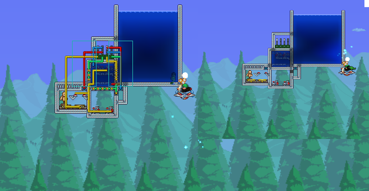 Safe logic airlock system to enter underwater buildings terraria community forums - Underwater airlock ...
