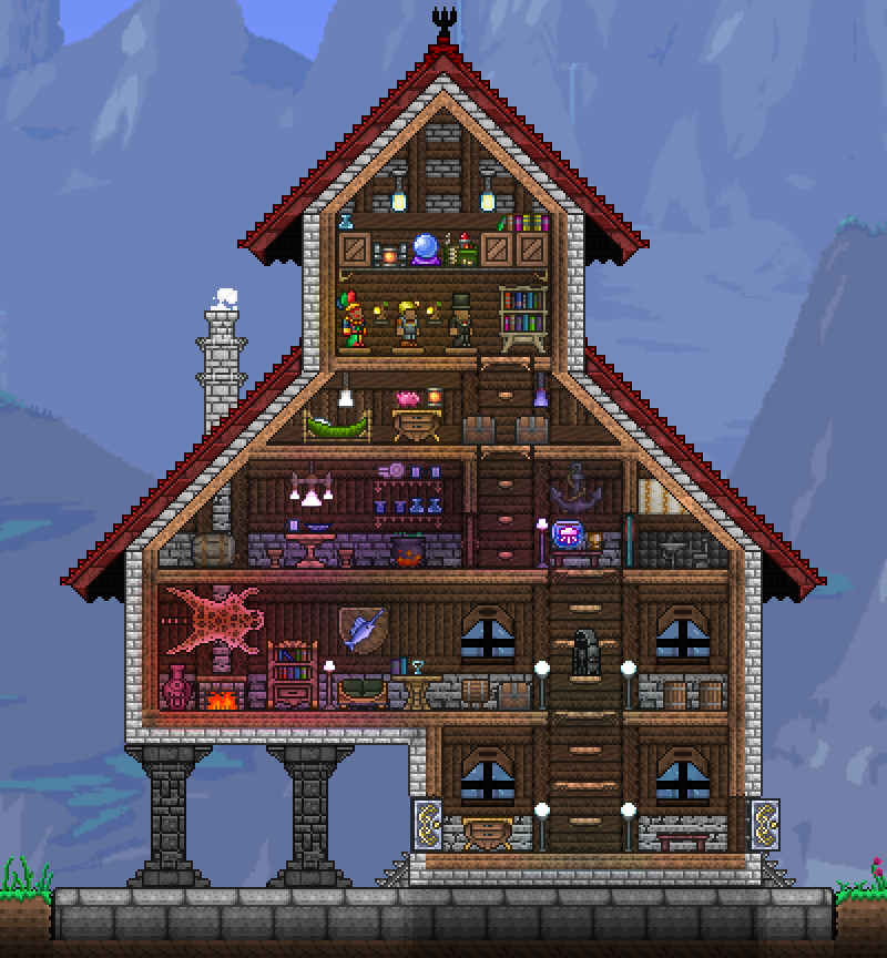 Pc Ballin Houses By Eiv Page 13 Terraria Community