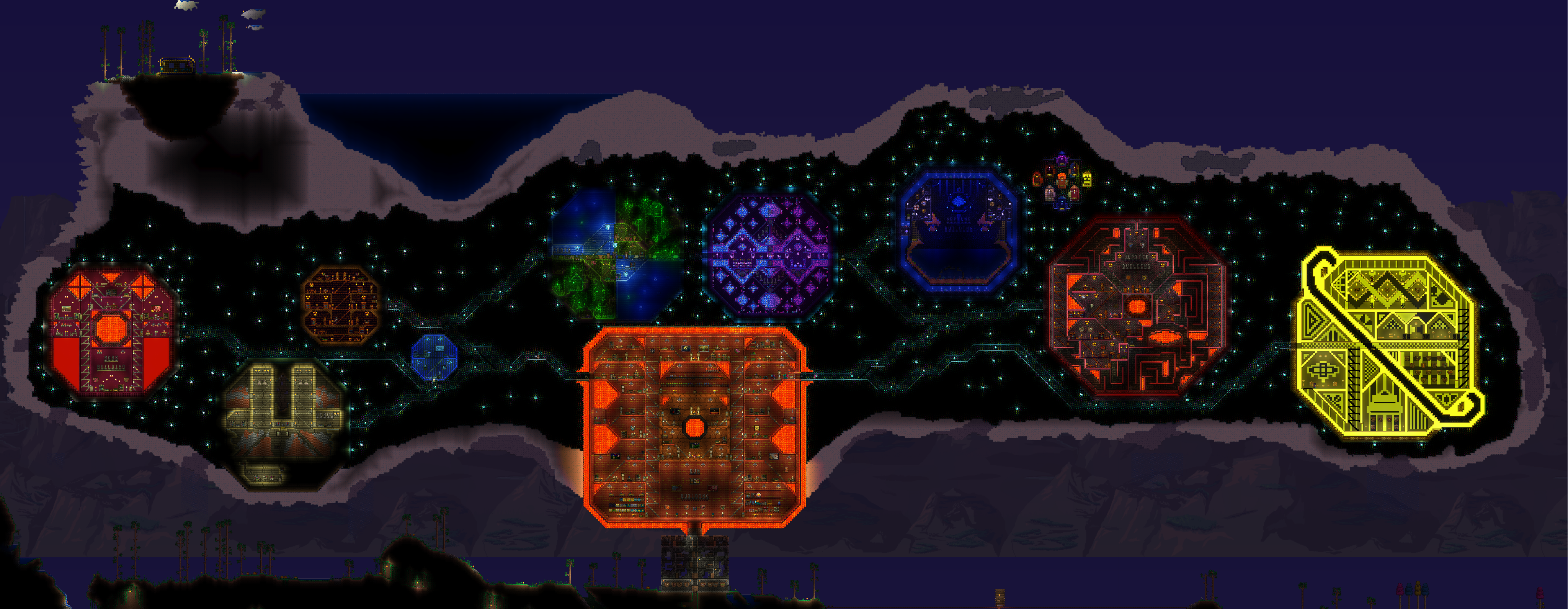 Pc My Solar System Themed Base Terraria Community Forums