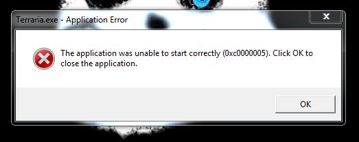 PC - PC Terraria not launching (0xc0000005)   Terraria