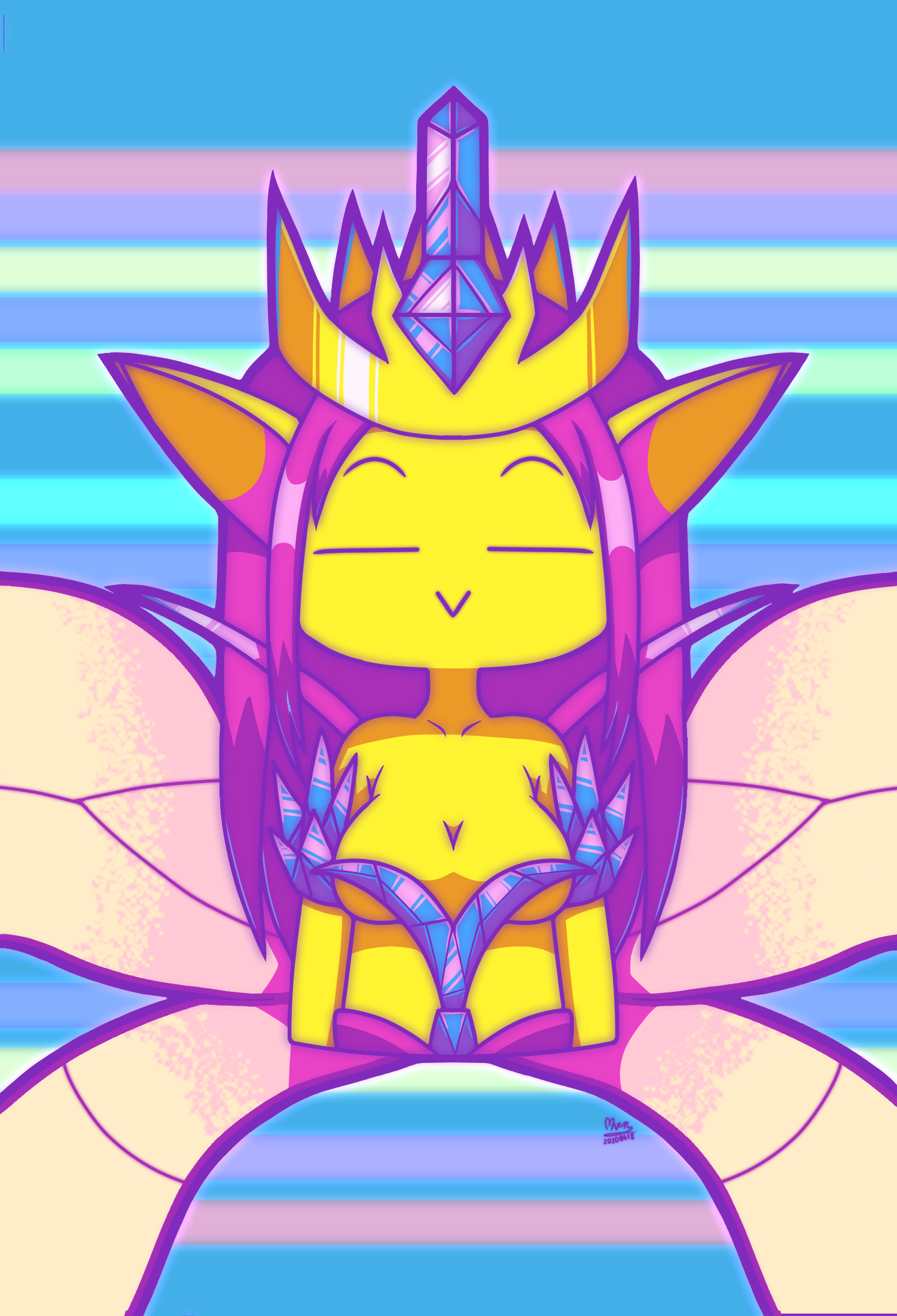 Chibi Terraria Empress of Light - by NeithR - 20200618.png