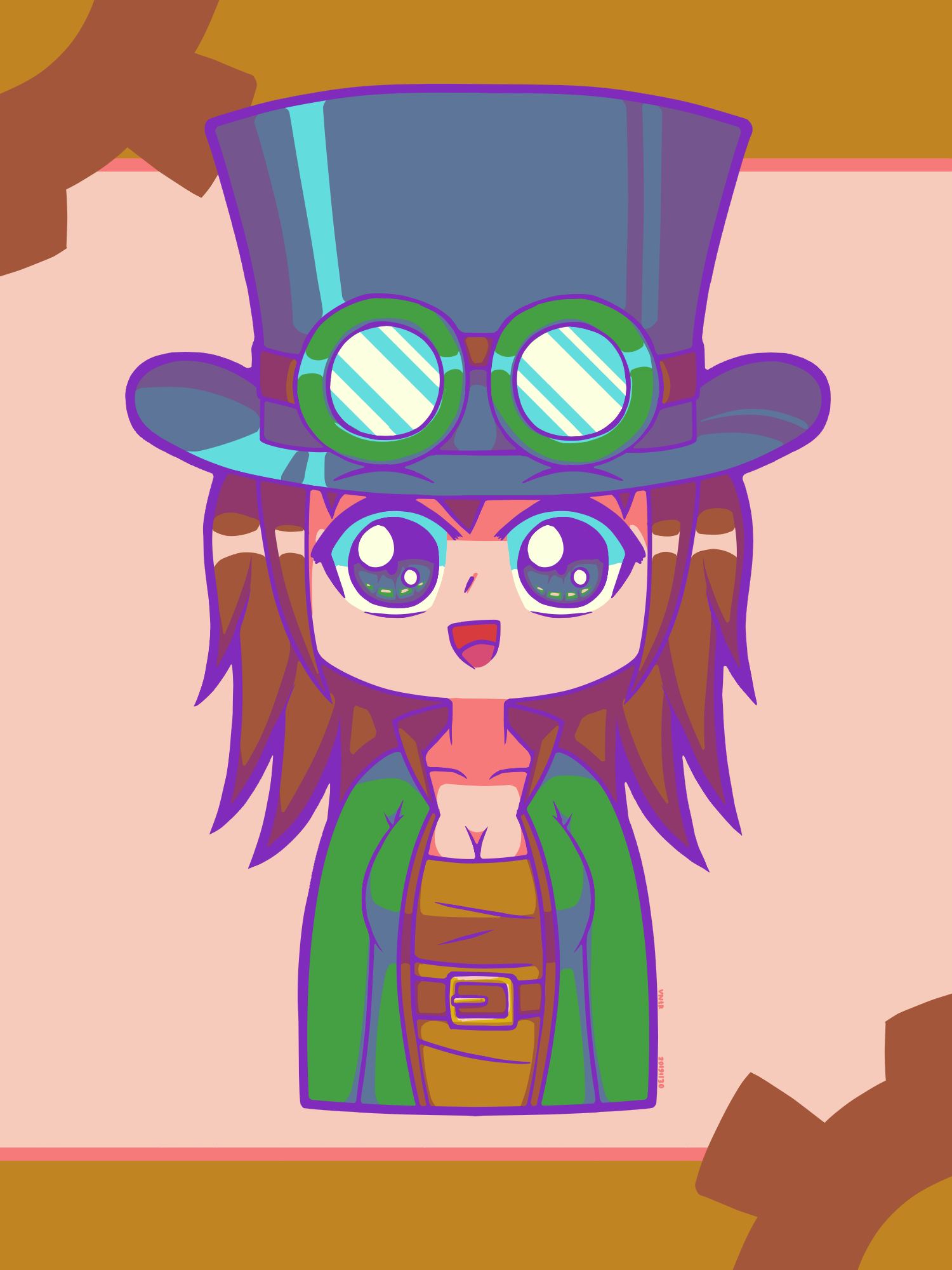 Chibi Terraria Steampunker - by NeithR - 20191130.png