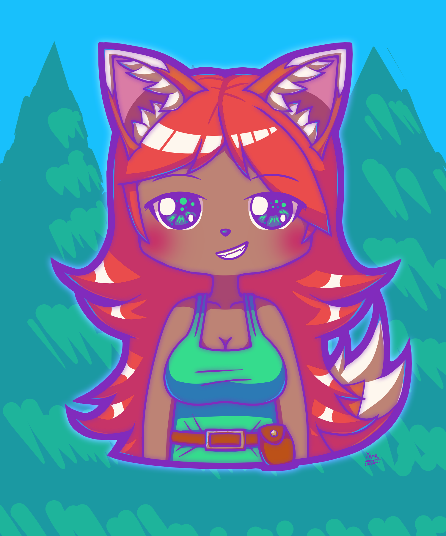 Chibi Terraria Zoologist - by NeithR - 20200621.png