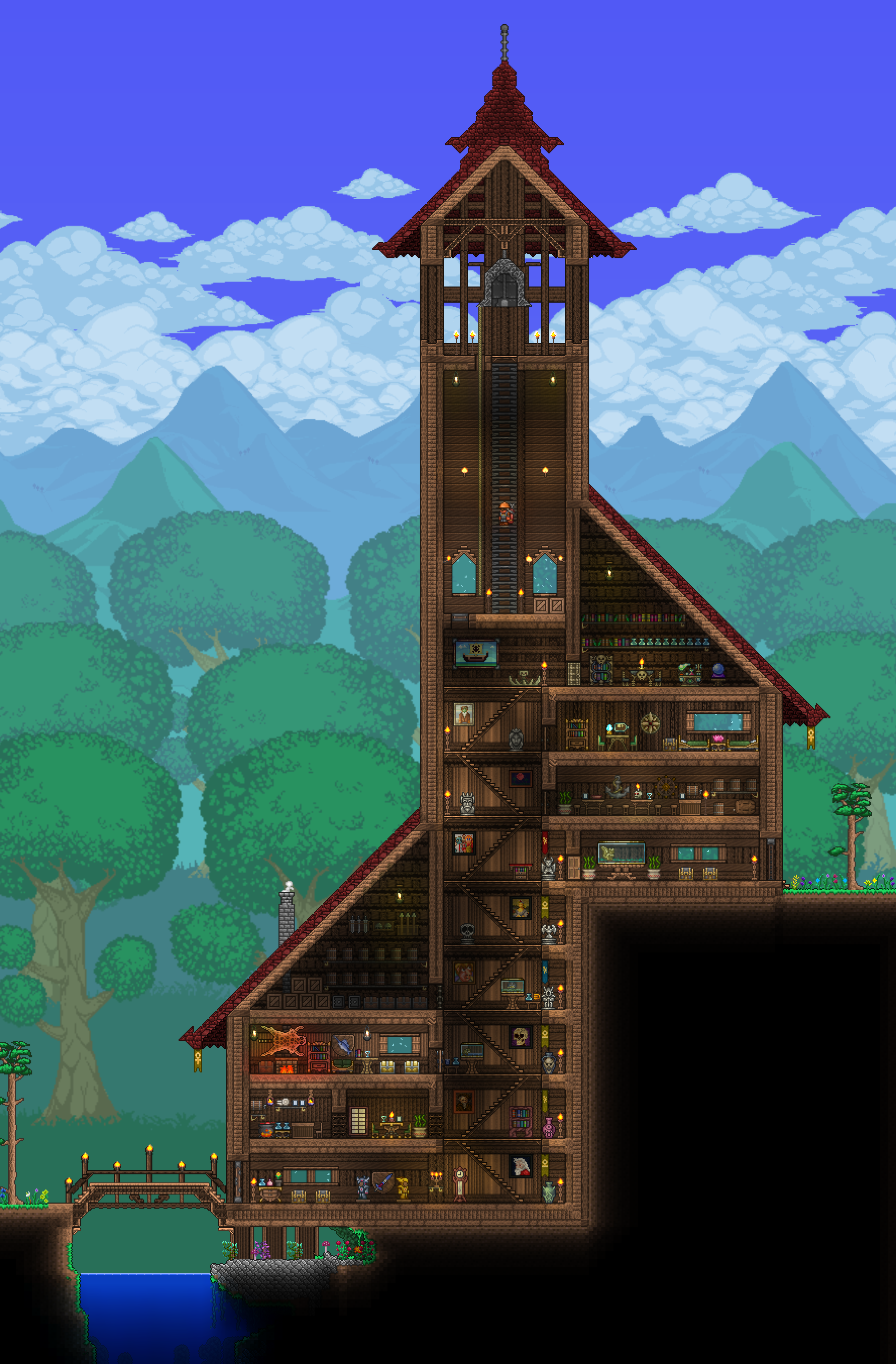 Pc ballin 39 houses by eiv page 8 terraria community for Best house designs terraria