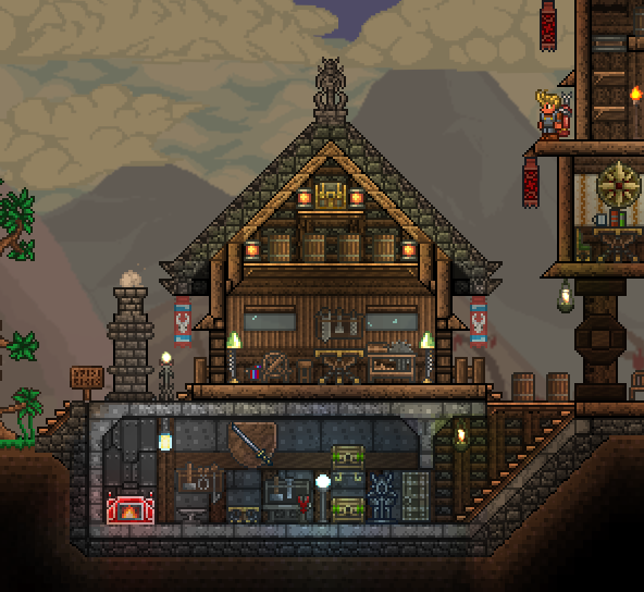 Pc ballin 39 houses by eiv terraria community forums for Simple village house design picture