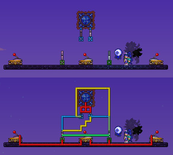 Gem Lock Dependent Teleporter Terraria Community Forums I do not know what i am doing wrong. gem lock dependent teleporter