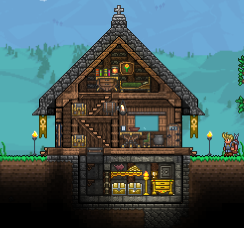Pc ballin 39 houses by eiv terraria community forums for Small houses that look like castles