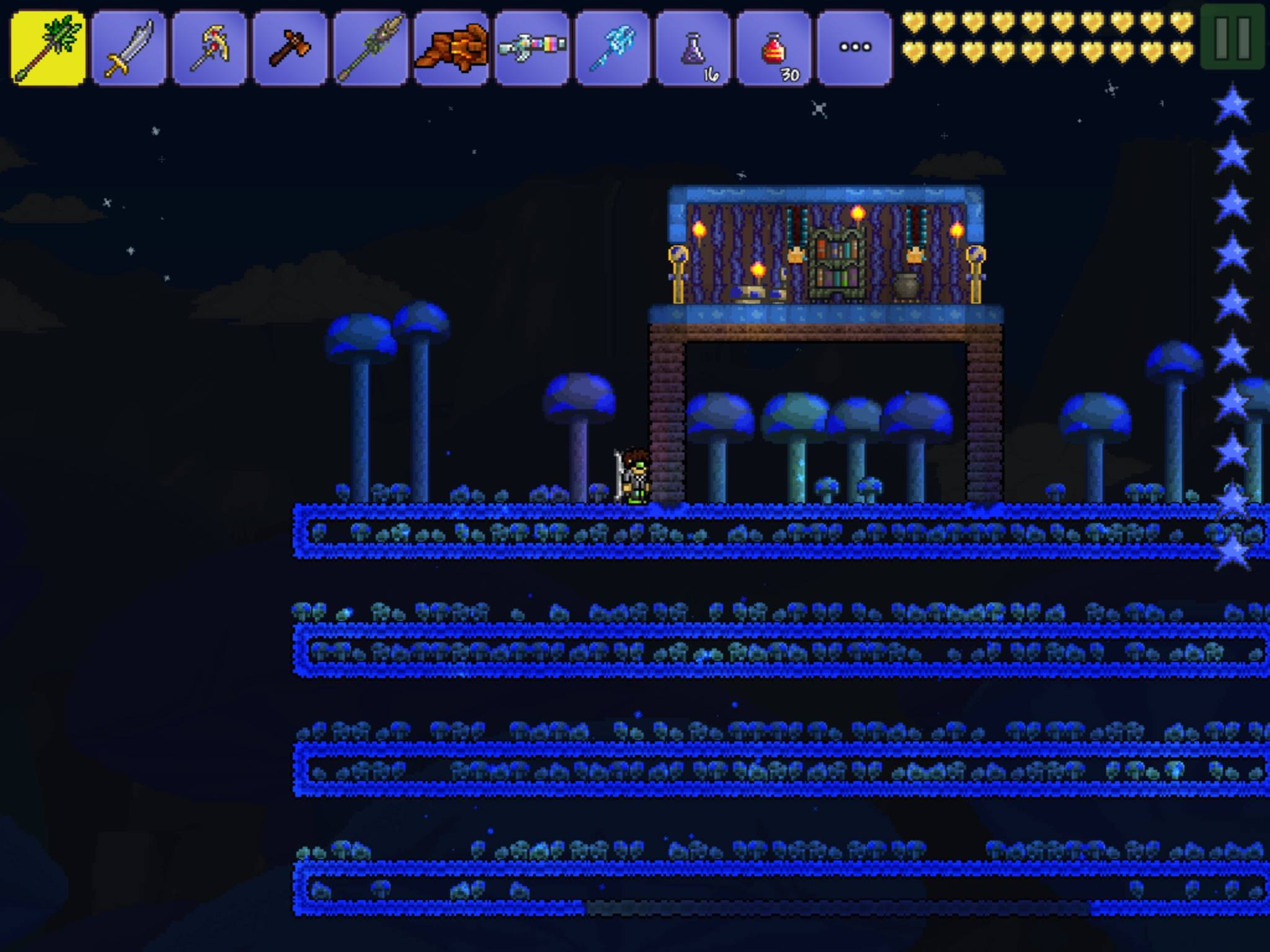 terraria how to make a spawn surface