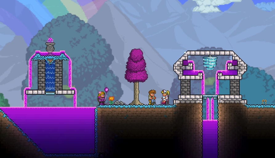 terraria how to tell when a map is hardmode