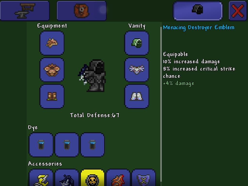 Crafting Destryoer Weapons