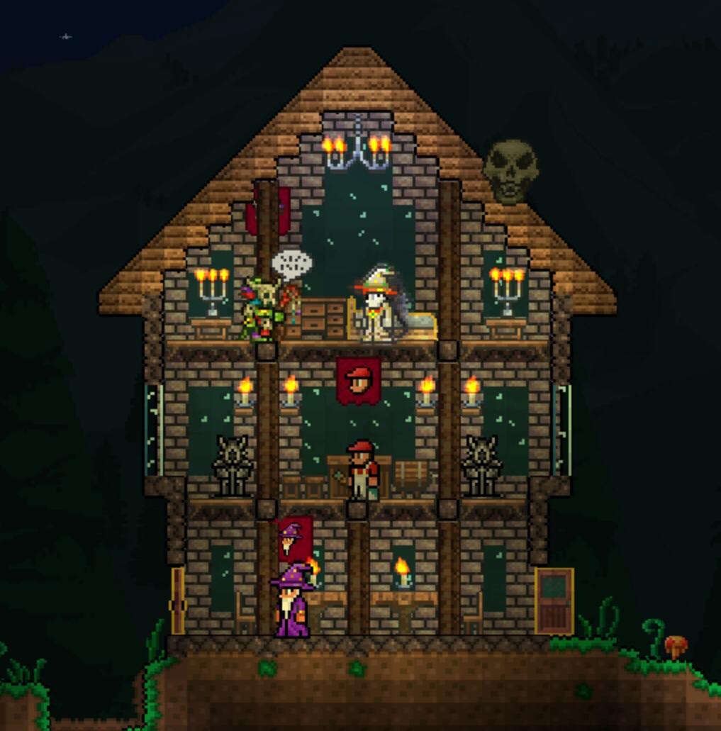 Derpling 39 s tavern house design terraria community forums for Terraria house designs