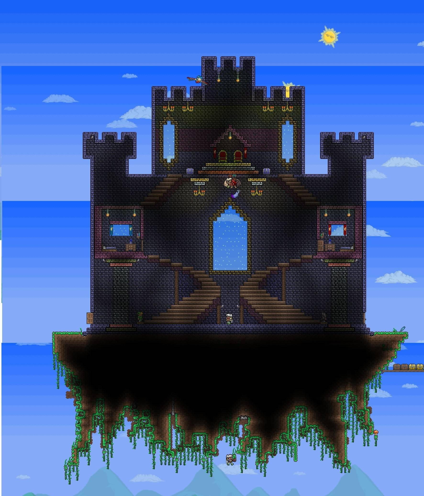 Share your aesthetic building techniques terraria for Best house designs terraria