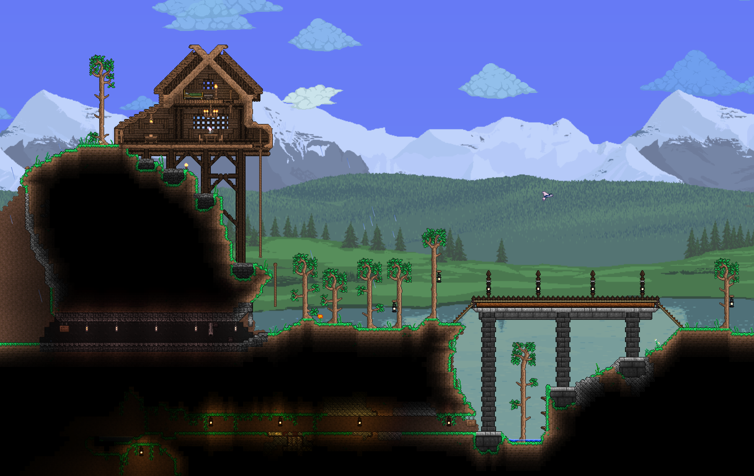 mountainside house and mine entrance.png