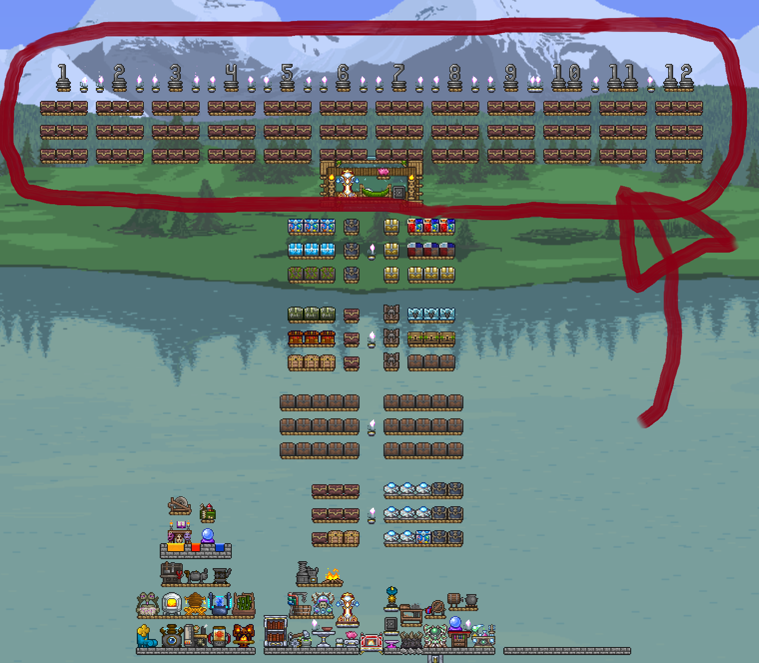 Chest Organization With Wire Mechanism Terraria Community Forums Wiring Ideas My Hoarding Problem