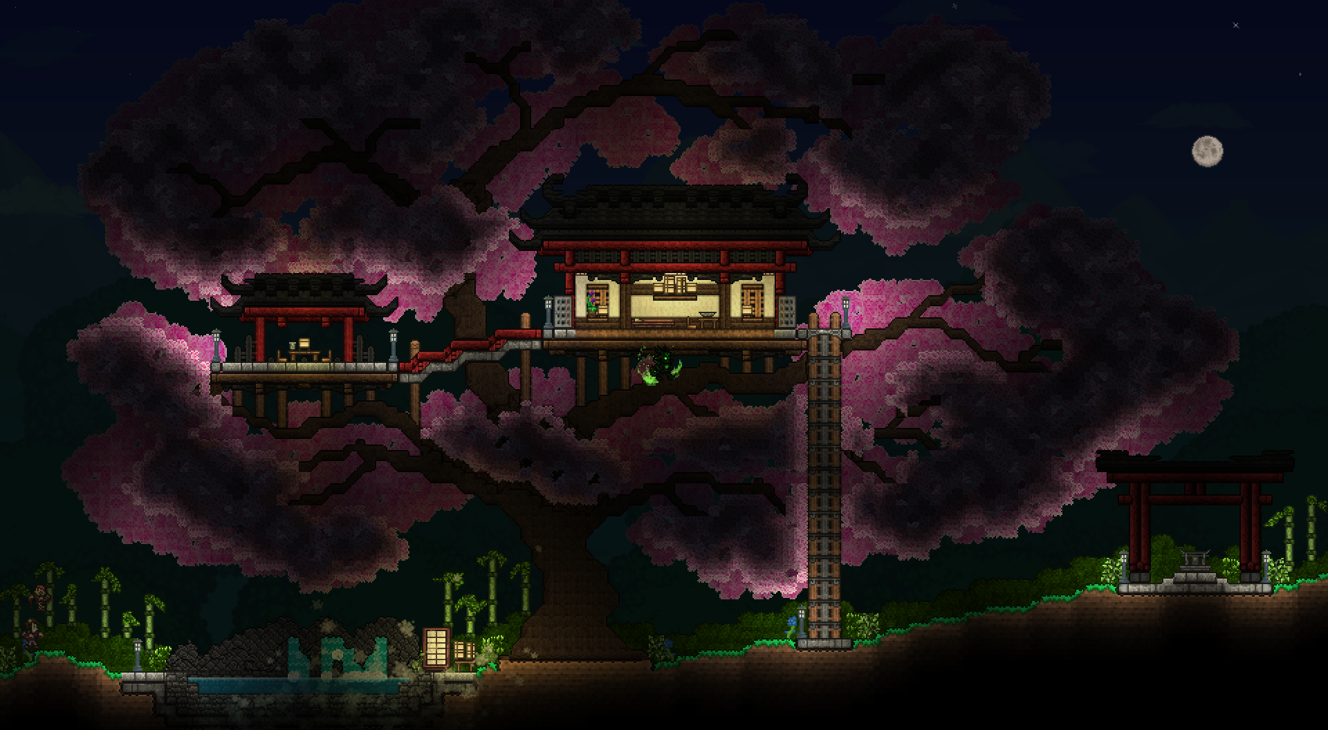 Sakura Treehouse Night.png