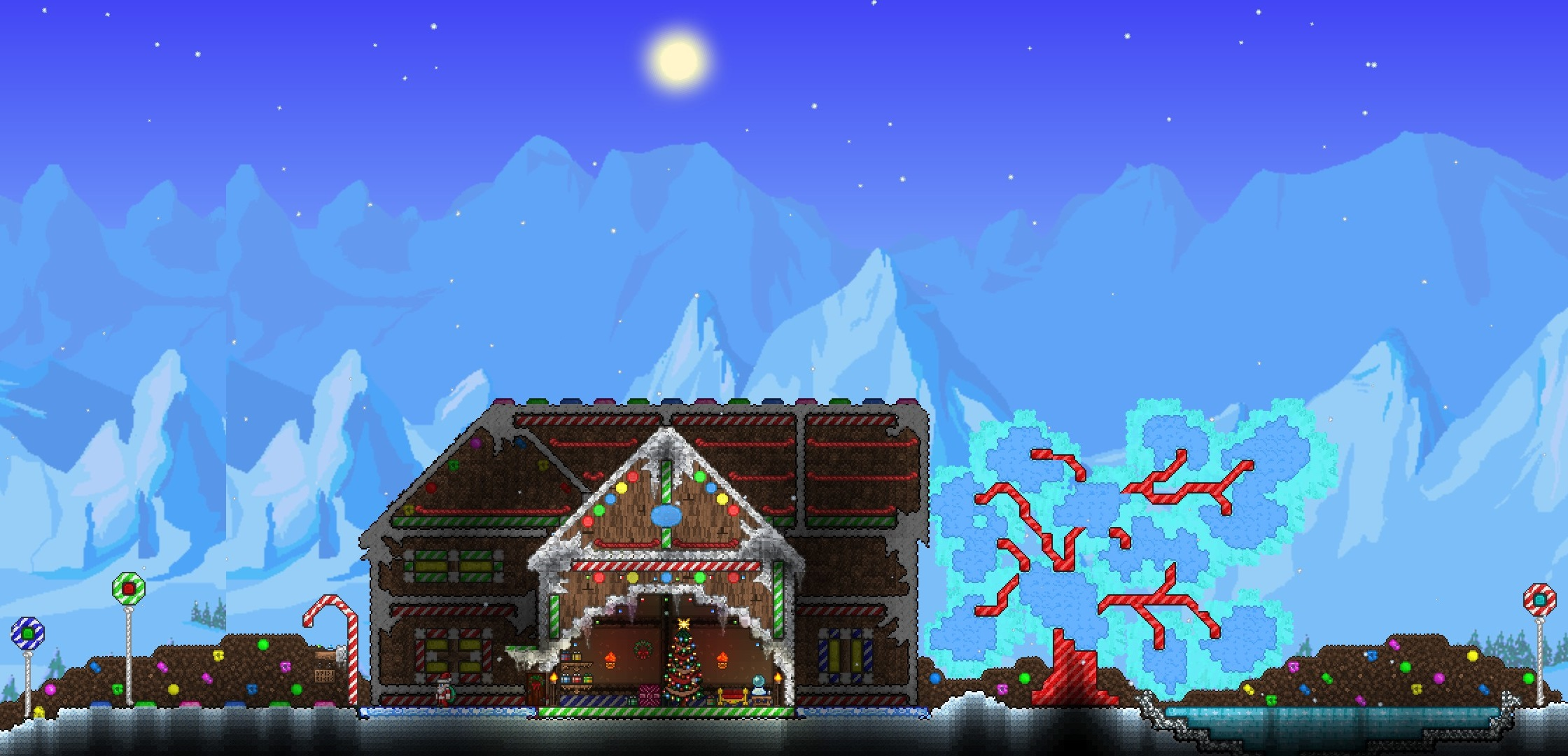 Terraria Christmas House.Christmas Season Builds Terraria