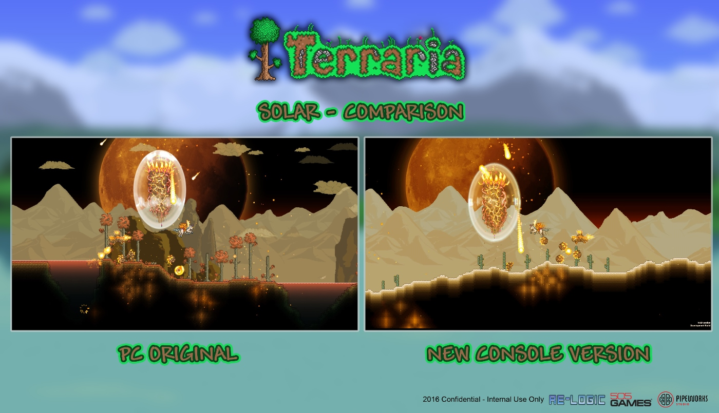 In The Meantime, Let's Whet Your Appetite With A Quick Screen Of The  Current Activelyrunning Build Of Console Terraria: