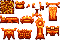 Wip lunar furniture terraria community forums it goes in this order going horizontally wall chest torch candle chair platform bed sofa chandelier door table dresser grandfather clock and mozeypictures Image collections