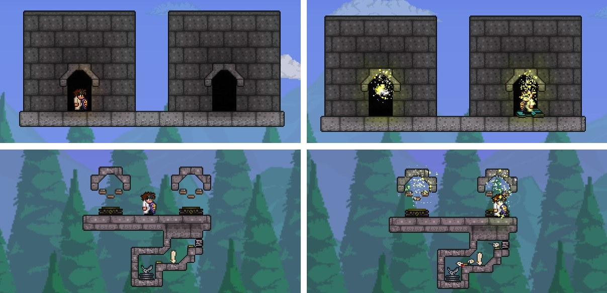 Pc Builds By Khaios Page 7 Terraria Community Forums This terraria building tutorial shows you how to make 3 different background doorway designs using the shadow paint and actuated teleporter technique. pc builds by khaios page 7