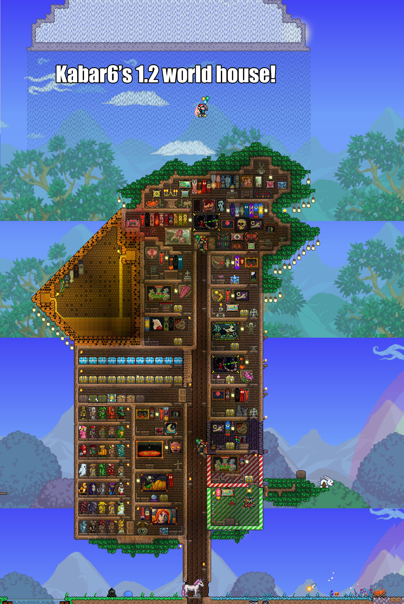 What does your house look like terraria community forums for Best house designs terraria