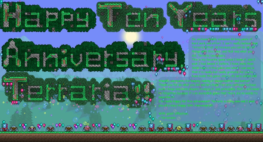 Terraria - 10 Years Anniversary Card.png