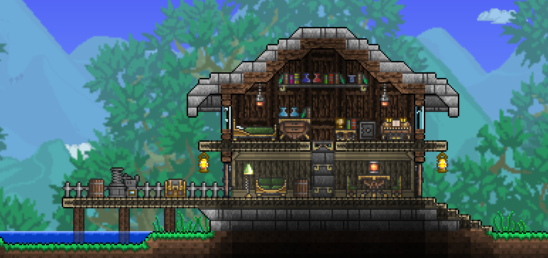 Pc caskett 39 s creations terraria community forums for Best house designs terraria