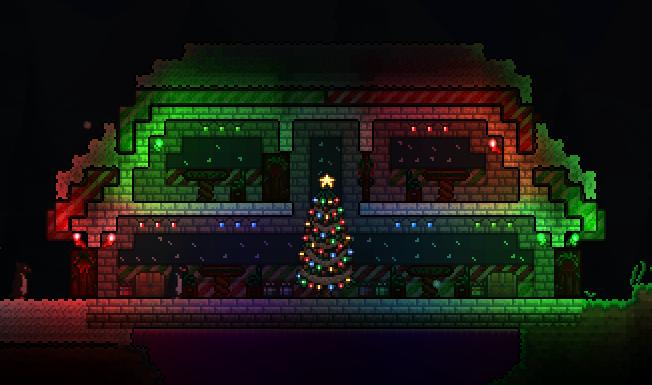 Terraria Christmas House.Pc Christmas Home Terraria Community Forums