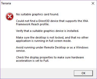 PC - Terraria doesn't run, instead opens an error | Terraria