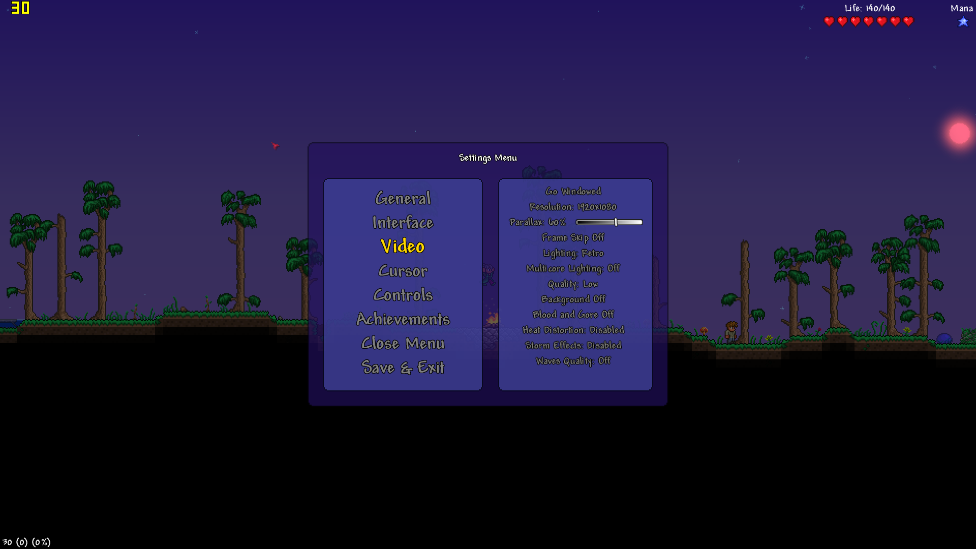PC - Terraria Running at 30 FPS capped instead of 60FPS | Terraria