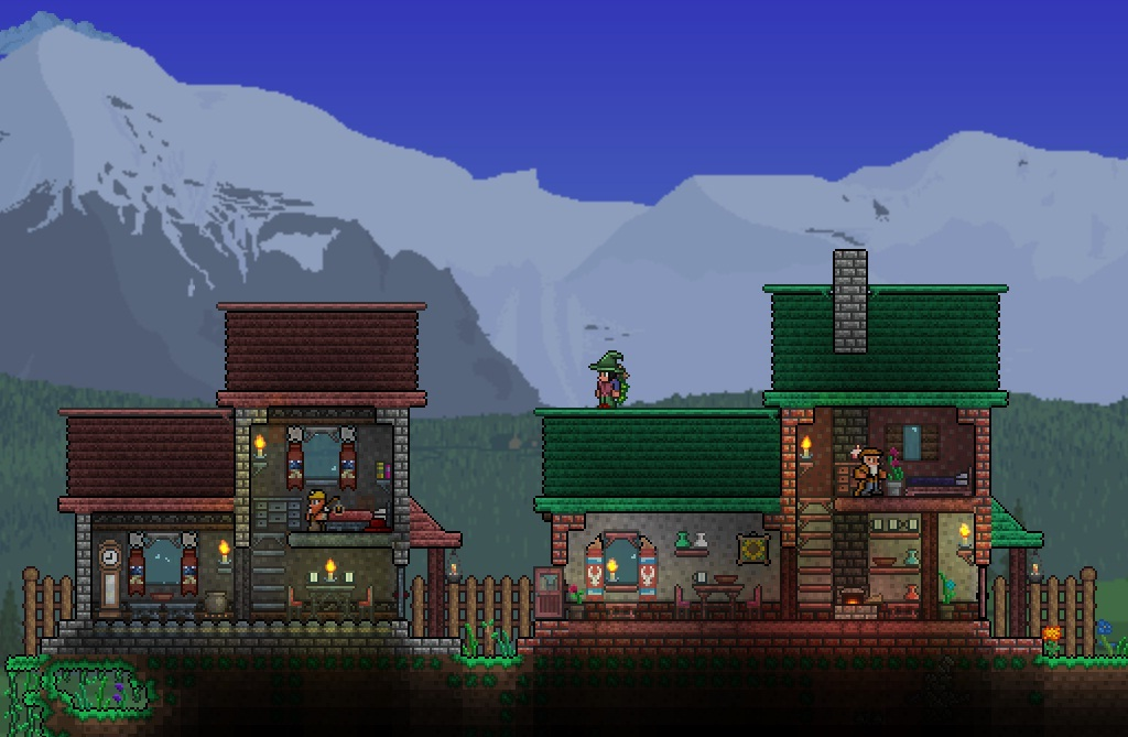 Town terraria community forums for Terraria house designs
