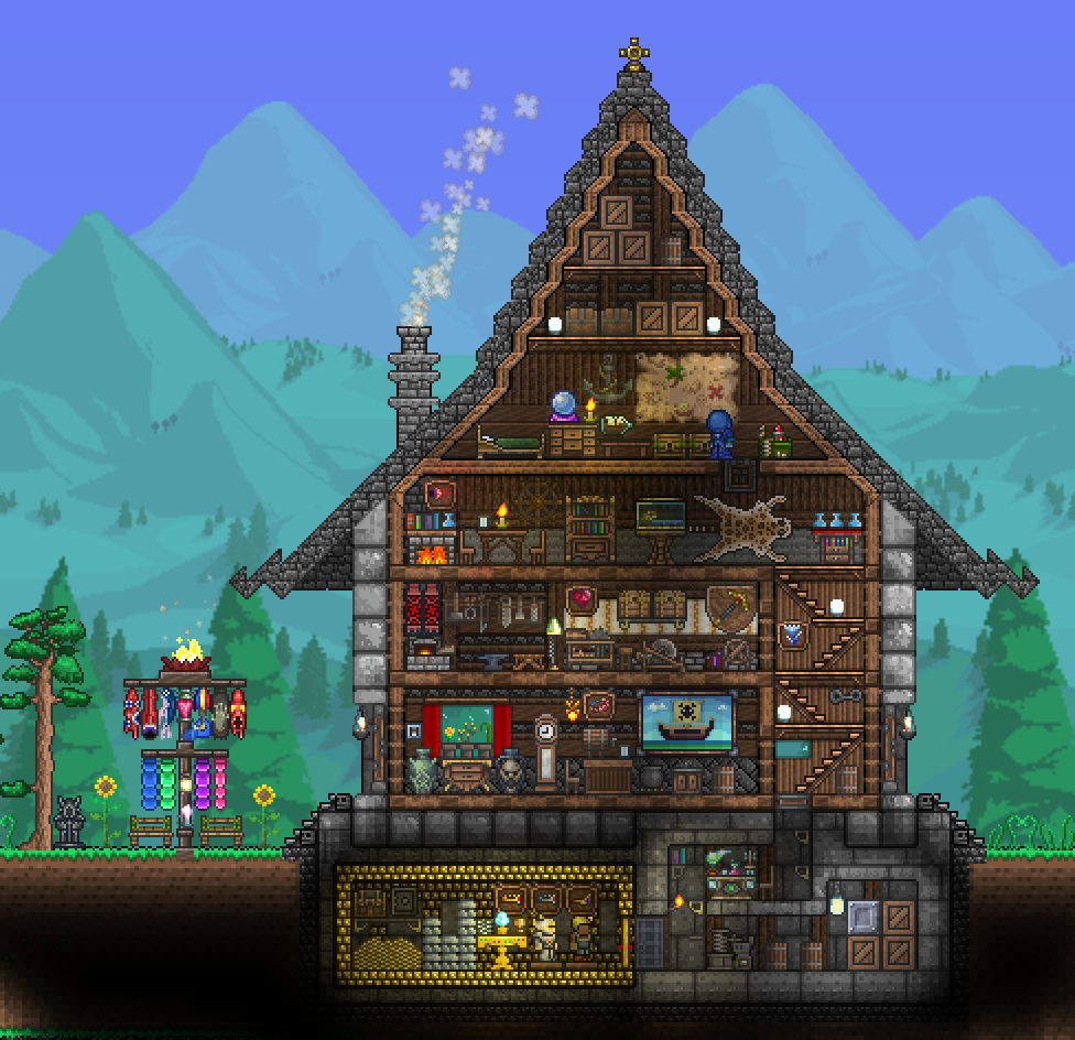 Pc ballin 39 houses by eiv page 3 terraria community for Home design reddit